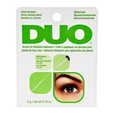 Клей для ресниц DUO прозрачный с кистью с витаминами 5 г