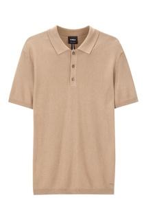 Бежевая рубашка-поло с коротким рукавом Strellson