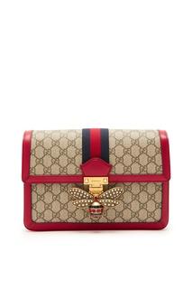 Красная текстильная сумка «Queen Margaret» от «Gucci»