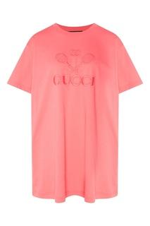 Розовая футболка Gucci Tennis