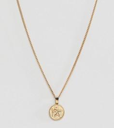 Эксклюзивное золотистое ожерелье с подвеской в виде монеты Liars & Lovers - Золотой