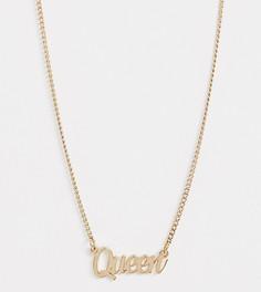 Эксклюзивное золотистое ожерелье с подвеской в виде надписи Liars & Lovers - Золотой