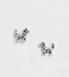 Серебряные серьги-гвоздики в виде собак Kingsley Ryan - Серебряный