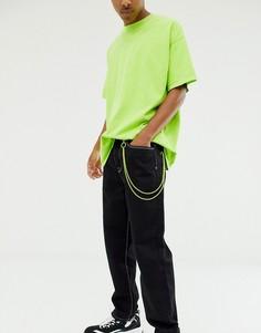 Неоновая цепочка для ключей на джинсы ASOS DESIGN - Желтый