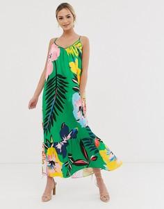 Платье макси с цветочным принтом Liquorish - Мульти