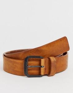 Светло-коричневый кожаный ремень Replay - Коричневый