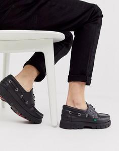 Черные кожаные мокасины Kickers lennon - Черный
