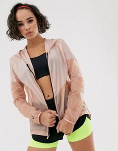 Куртка цвета розового золота с капюшоном Nike Running - Розовый
