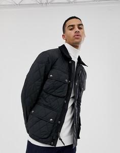 Стеганая байкерская куртка с кожаной отделкой Polo Ralph Lauren - Черный