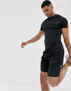Черные шорты-леггинсы для бега из быстросохнущей ткани ASOS 4505 - Черный