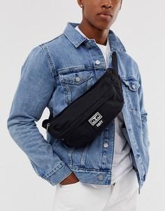 Черная сумка-кошелек через плечо Obey - Drop Out - Черный