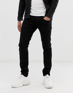 Черные эластичные джинсы зауженного кроя Replay Anbass - Черный
