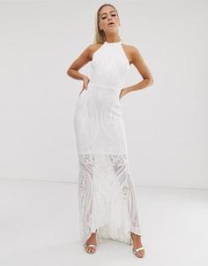 Платье макси с пайетками Club L London - Белый