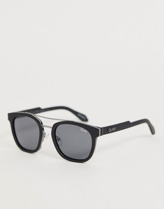 Круглые солнцезащитные очки в черной оправе Quay Australia coolin - Черный