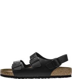 Сандалии Черные сандалии из натуральной кожи Birkenstock