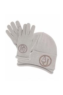 Комплект: шапка, перчатки Armani Jeans