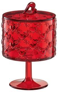 Сахарницы, Конфетницы Guzzini Ваза для десертов Love малая красная