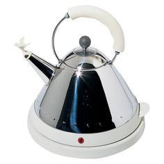 Электрочайники Alessi Чайник электрический со свистком белый