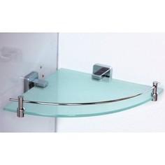 Полка RainBowL Cube стекло с ограничителем угловая (2743)