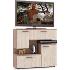 Тумба ТВ Мебельный двор С-МД-С1-1000 ясень шимо светлый/ясень шимо темный