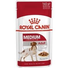 Пауч Royal Canin Medium Adult Sause-Sobe кусочки в соусе собе для собак средних пород с 10мес до 10лет 140г