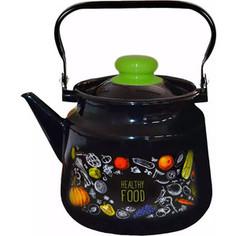 Чайник эмалированный 3,5 л Appetite Healthy food (1с26с)