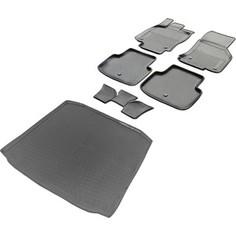 Комплект ковриков салона и багажника Rival для Skoda Octavia A7 лифтбек (2013-2017 / 2017-н.в.), полиуретан, K15101001-4