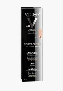 Тональное средство Vichy DERMABLEND 3D с высоким покрытием для жирной кожи, склонной к появлению акне, тон 25 30 мл