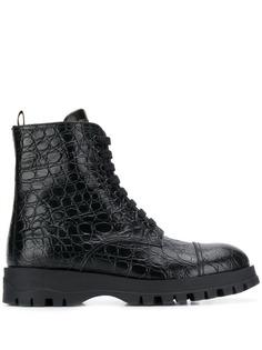 Prada ботинки с тиснением под кожу крокодила