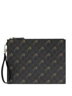 Gucci клатч с логотипом GG и принтом