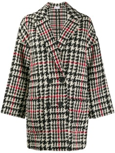 Red Valentino двубортное пальто в ломаную клетку