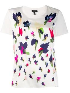 Escada футболка с цветочным принтом