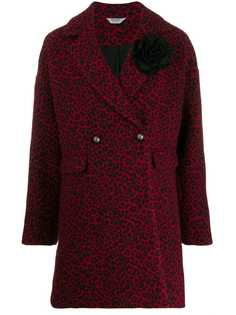Liu Jo двубортное пальто с леопардовым принтом