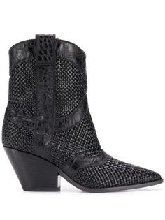 Casadei ковбойские ботинки с плетением