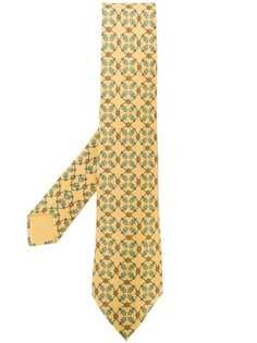 Hermès Pre-Owned галстук с геометрическим принтом