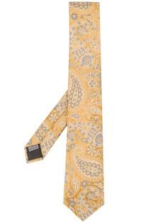 Canali галстук с узором пейсли