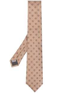 Canali галстук с цветочным принтом