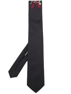 Alexander McQueen галстук с вышивкой