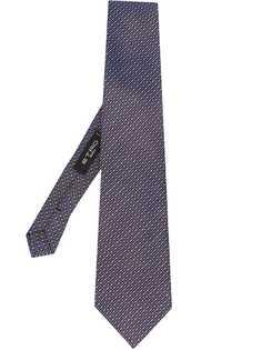 Etro галстук с перекрестной строчкой