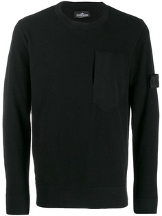 Stone Island textured-knit jumper
