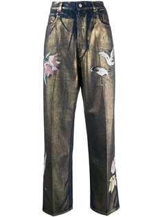 Golden Goose джинсы прямого кроя с завышенной талией и принтом