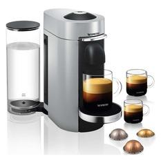 Капсульная кофеварка DELONGHI Nespresso ENV155.S, 1600Вт, цвет: серебристый [0132191928] Delonghi