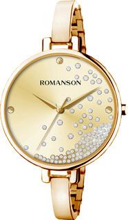 Женские часы в коллекции Floroje Женские часы Romanson RM9A07LLG(GD)