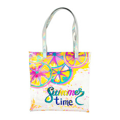 Пляжная сумка LADY PINK с желтыми лимонами