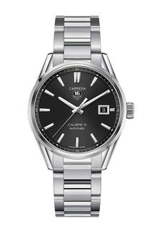 CARRERA Calibre 5 Автоматические мужские часы с черным циферблатом Tag Heuer
