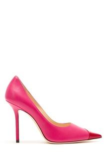 Красно-розовые туфли Love 100 Jimmy Choo