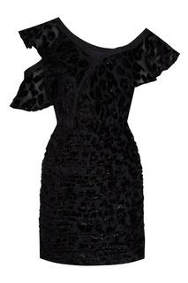 Асимметричное платье с леопардовым мотивом Self Portrait