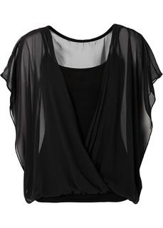 Блузки с коротким рукавом Двойной блузон Bonprix