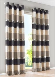 Плотные шторы Штора в поперечную полоску (1 шт.) Bonprix