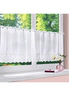 Короткие шторы Занавеска кухонная с вышивкой ришелье Bonprix